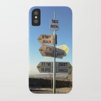 israel iPhone & iPod Cases featuring CrossRoads in Israel by David Frenkel