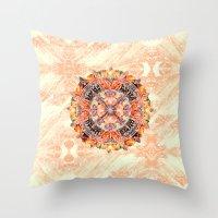 chakra Throw Pillows featuring Chakra Mandala by Peta Herbert