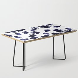 Indigo Blue Sun-Dyed Leaves Coffee Table