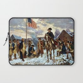 Washington At Valley Forge Laptop Sleeve