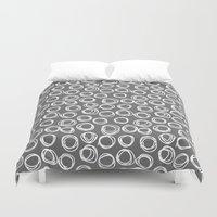 gta Duvet Covers featuring Hand drawn pattern by eARTh