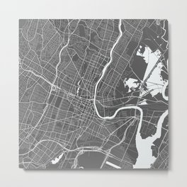 Newark USA Modern Map Art Print Metal Print