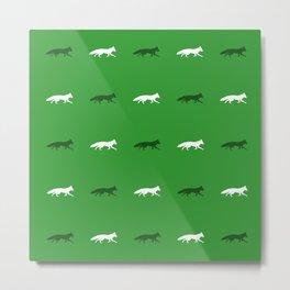 Green Foxes! Metal Print