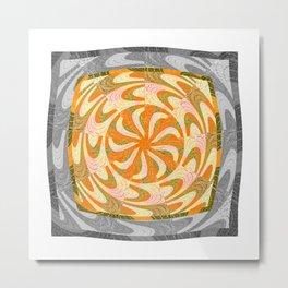 Indigenous Vintage Mandala Metal Print
