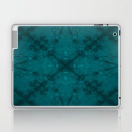 Green star kaleidoscope pattern Laptop & iPad Skin