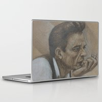 johnny cash Laptop & iPad Skins featuring Johnny Cash by Tex Bigrancher