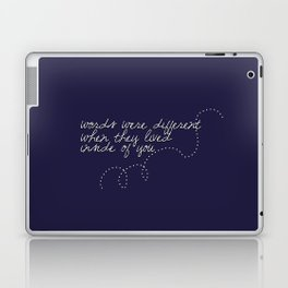 Words Were Different When They Lived Inside of You Laptop & iPad Skin