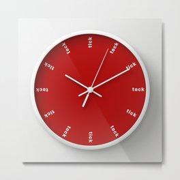 clock tick tock ~ red Metal Print