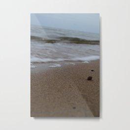 Waves crashing on the beach Metal Print