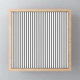 Black Pinstripe On White Pattern Framed Mini Art Print