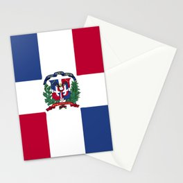Dominican Republic flag emblem Stationery Cards