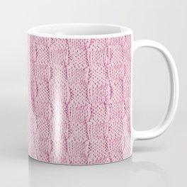 Soft Pink Knit Textured Pattern Coffee Mug