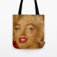 monroe Tote Bags featuring Monroe by Ancello