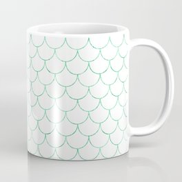 Mermaid Scales in Green Coffee Mug