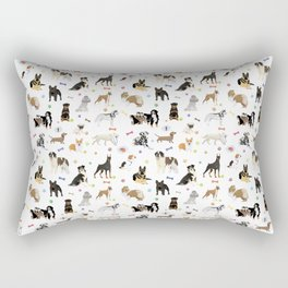 Various Dogs Pattern Rectangular Pillow