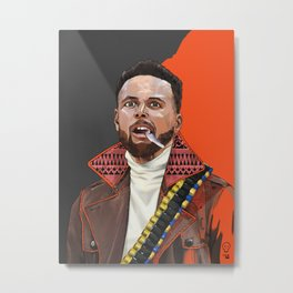 Curry, The Shooter from The Bay Metal Print