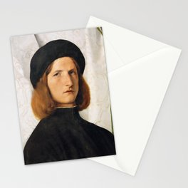 Lorenzo Lotto - Portrait of a Young Man with a Lamp Stationery Cards