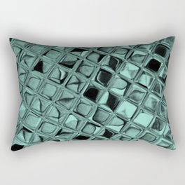 Metallic Beach Glass Rectangular Pillow