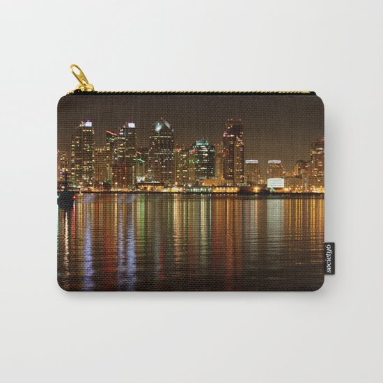 San Diego Skyline Night Carry-All Pouch