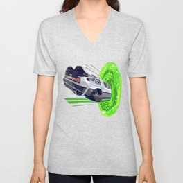 Back to The Future with The Rick Door Portal Unisex V-Neck