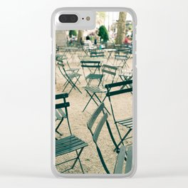 Bryant Park Chairs Clear iPhone Case