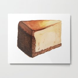 Cheesecake Slice Metal Print