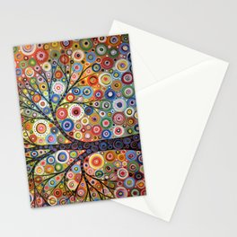Abstract Art Landscape Original Painting .. Endless Sky Stationery Cards