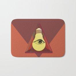 """Illuminati"" bulb Bath Mat"