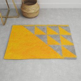 gold yellow concrete geometric pattern Rug