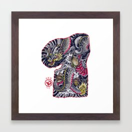 dragon flash Framed Art Print