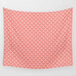 Small peach echo scallops with fractal texture Wall Tapestry
