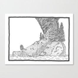 Fire on Foot Island Canvas Print