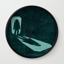 A door through space Wall Clock