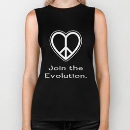 Peace.  Join the Evolution. Biker Tank