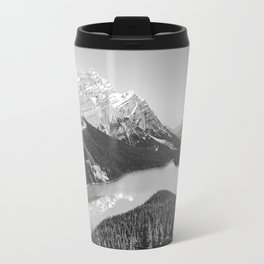 Landscape Photography Peyto Lake | Black and white Travel Mug