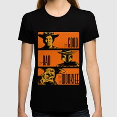 The Good, the bad and the wookiee LARGE Black Womens Fitted Tee