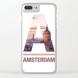 A-msterdam Clear iPhone Case
