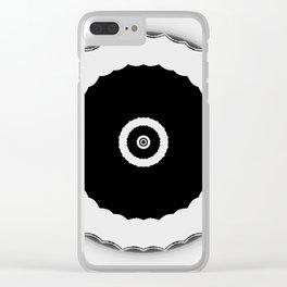 Simple Circles Black an White Clear iPhone Case