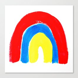 Petite Primary Watercolor Rainbow Canvas Print