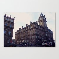 edinburgh Canvas Prints featuring Edinburgh by Margo Giannaklis Photography