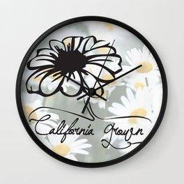 california grown daisy Wall Clock