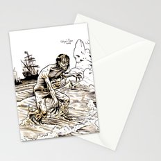 Out of the Sea of Red Stationery Cards