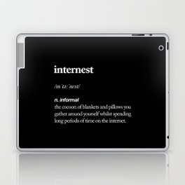 Internest black and white modern typography quote bedroom poster wall art home decor Laptop & iPad Skin