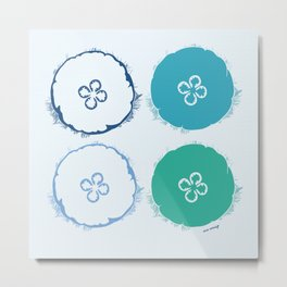 Moon Jelly - Cool Palette Metal Print