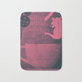 Tea and Tasseomancy (Ruby Velvet and Metal) Bath Mat