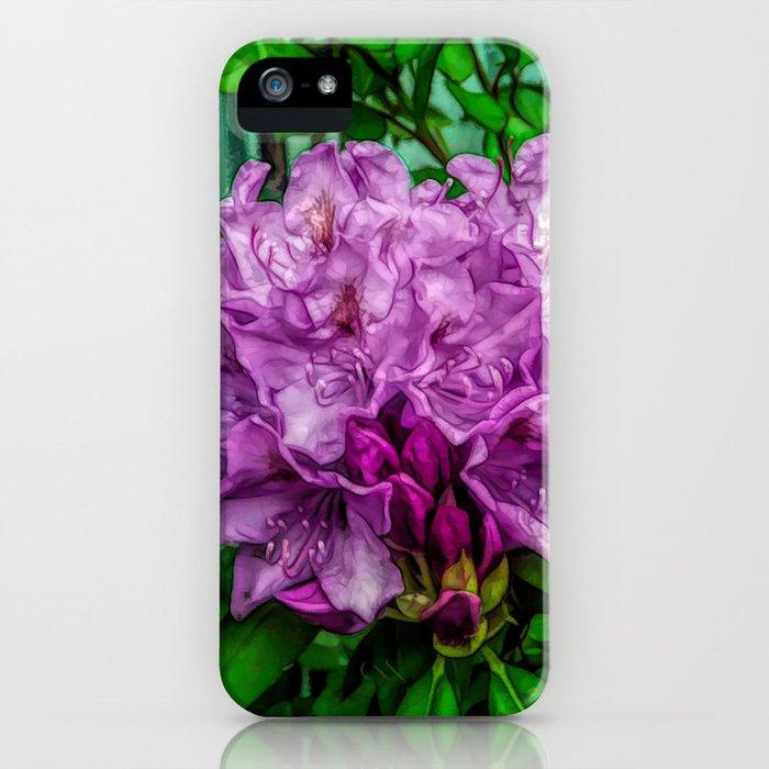 Fine Wine Cafe Light Purple Rhododendron iPhone Case
