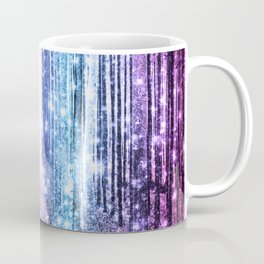 Magical Forest : Pastel Pink Lavender Aqua Periwinkle Ombre Coffee Mug