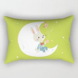 Little rabbit on the moon Rectangular Pillow