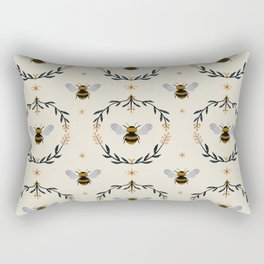 Ode to the Bumblebee (in cream) Rectangular Pillow