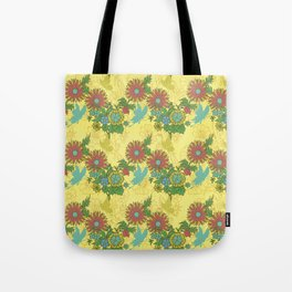 Garden Charm 8:  butterflies and blooms in fresh boho colors Tote Bag